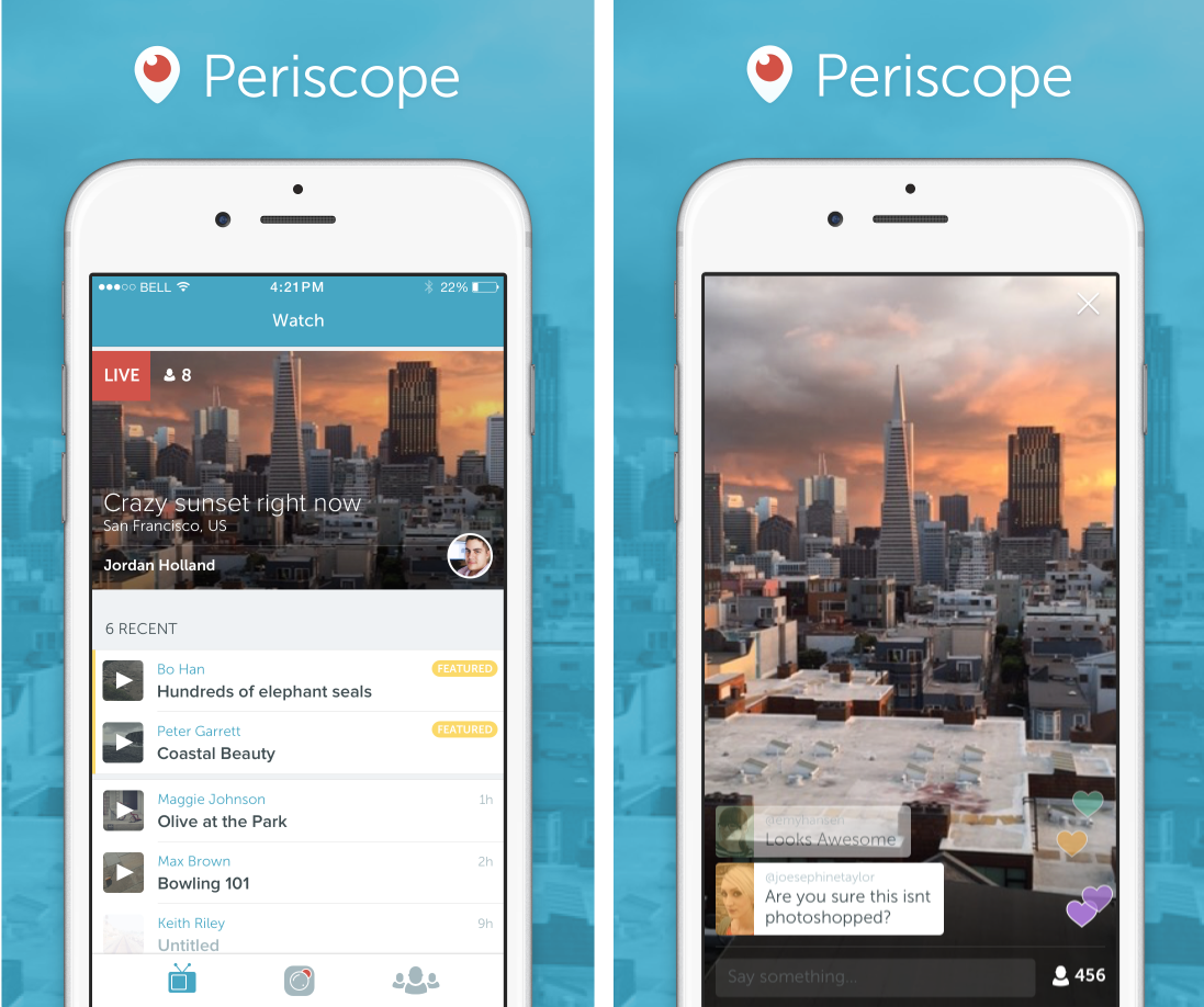 periscope interface