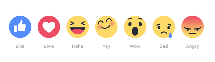 reactions di facebook emoji