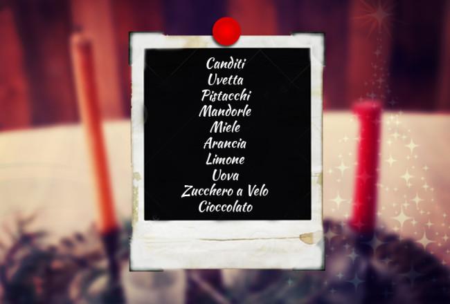 Lista ingredienti natalizi