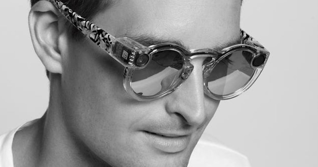 Snap Inc. (Snapchat) CEO Evan Spiegel donning Spectales designed by Karl Lagerfeld