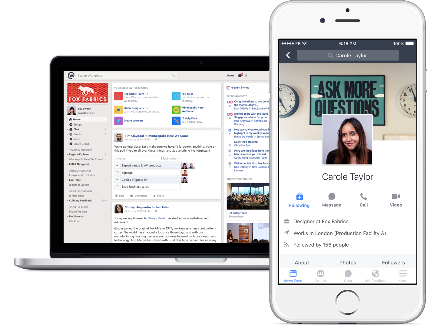 Workplace UX - Facebook