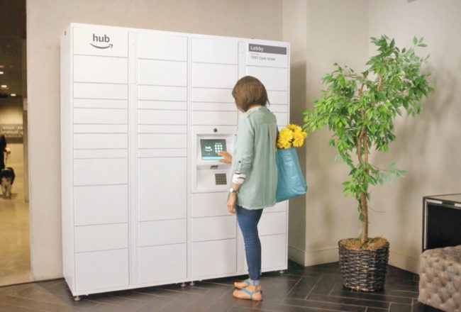 Amazon The Hub - Smart Locker - Delivery Dotmug