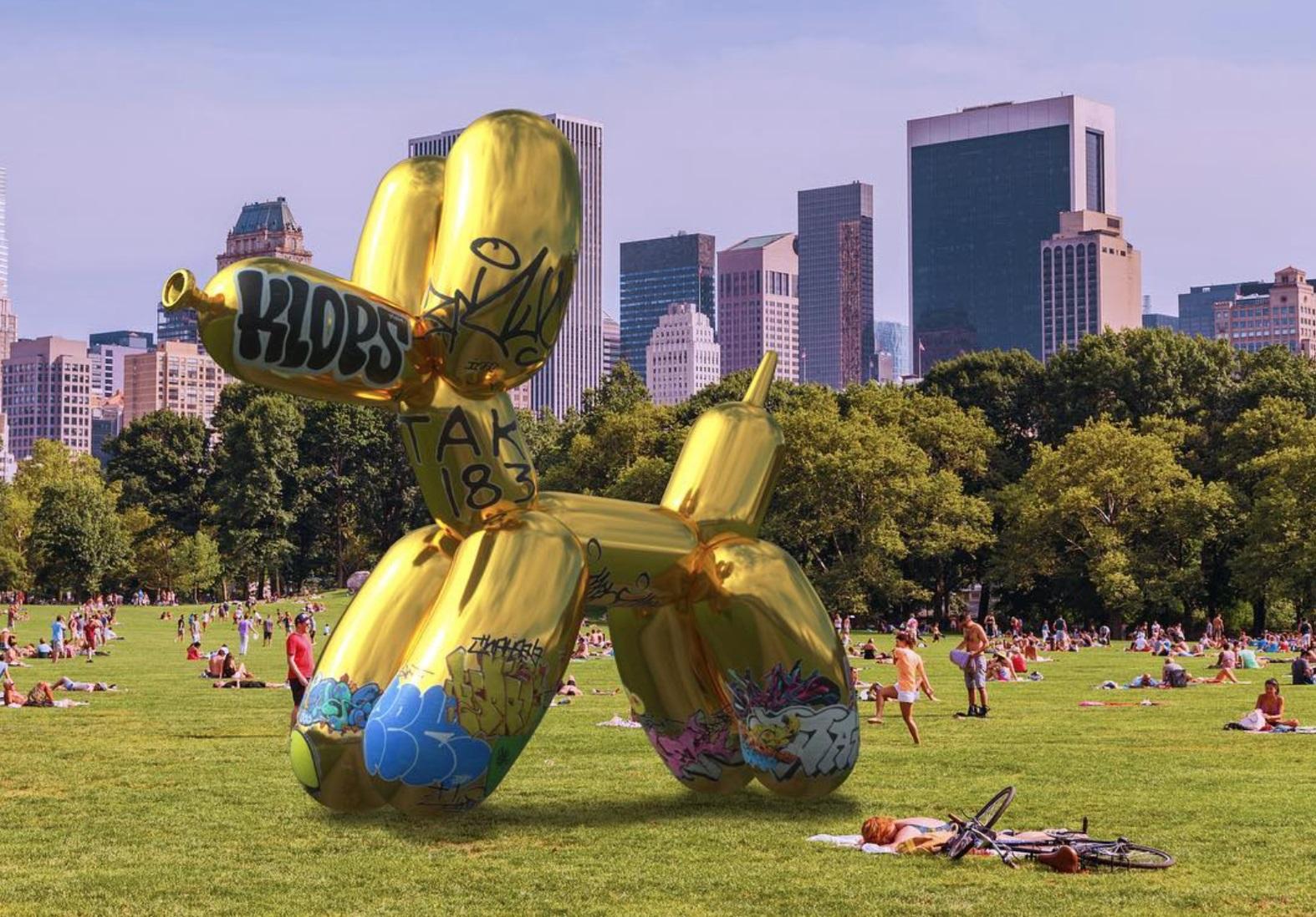 Snapchat ART - Jeff Koons - Ballon Dog - Augmented Reality Dotmug