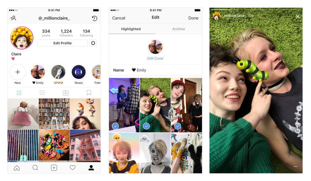 highlight Stories Instagram - pic from Instagram Blog
