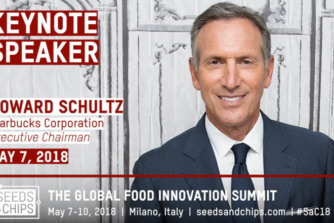 John Kerry and Howard Schultz at Seeds and Chips 2018. Take part with Dotmug.